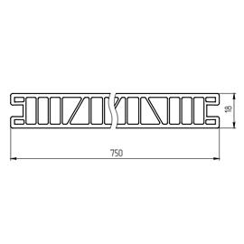 Панель строительная 750 мм
